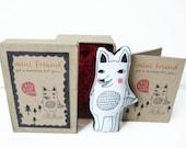 SALE! Cotton Message Doll - Minifriend: Big Bad Wolf
