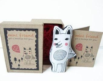 Cotton Message Doll - Minifriend: Big Bad Wolf
