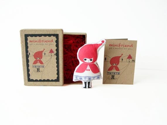 Cotton Message Doll - Minifriend: Red Riding Hood
