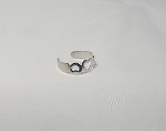 Sweetheart triple Heart toe or finger silver ring