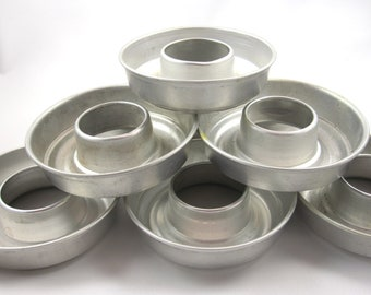 Vintage Aluminum Mini-Ring Jello Molds, Set of 10