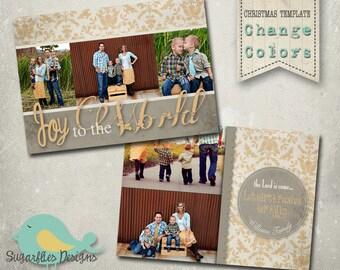 Christmas Card Template PHOTOSHOP TEMPLATE - Family Christmas Card 76