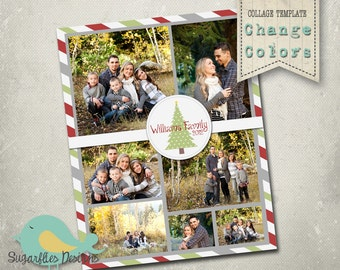 Photography Collage PHOTOSHOP TEMPLATE Blog Board 16x20 - Collage Christmas
