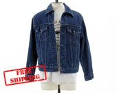 FREE SHIPPING - Vintage Levis Denim Jean Jacket - Rinsed Indigo - Men's Size Medium Med M - Black Friday Etsy Cyber Monday Etsy