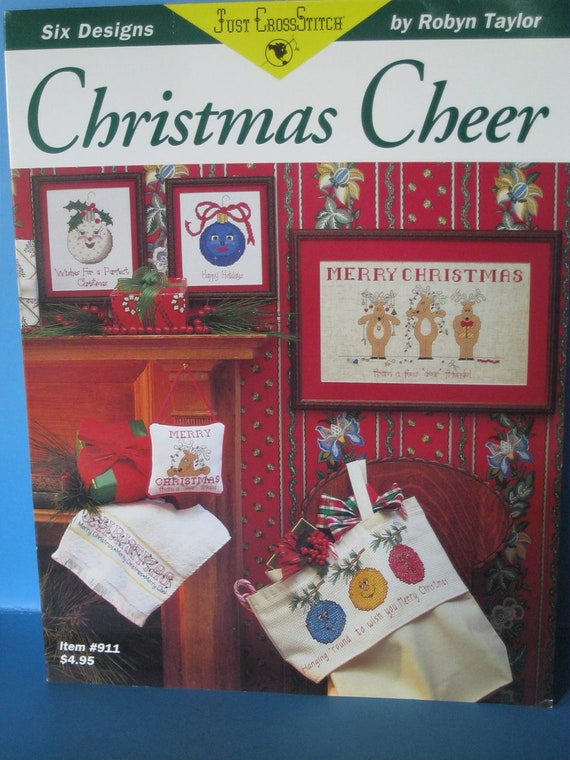 Christmas Cheer Counted Cross stitch pattern booklet New by Just Cross Stitch