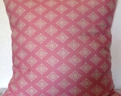 2 Pillow Covers 18x18-Free US Shipping - Dear Stella Moda Lily Ashbury Cream on Pink