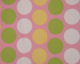 2 Pillow Covers 18x18-Free Shipping - Polka Dots White, Yellow, Green on Baby Pink Beautiful Home Decor
