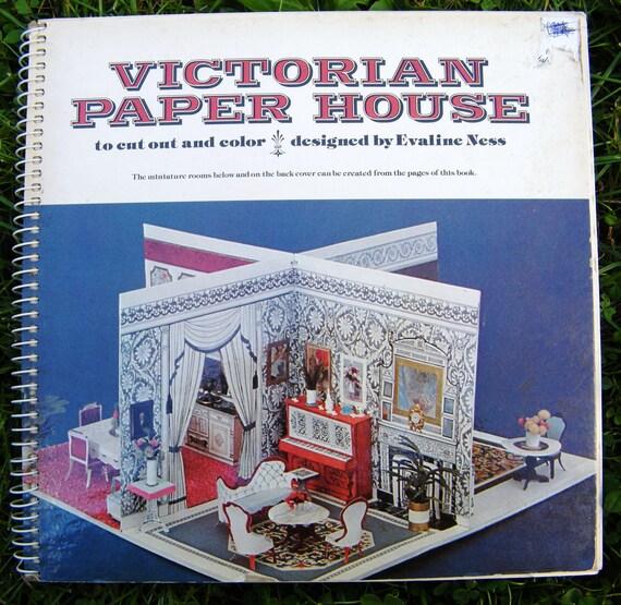 Vintage Victorian Paper House Book