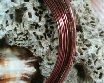18 gauge Half Round Antique Copper Wire