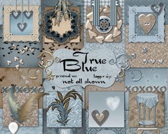 Digital Scrapbook True Blue