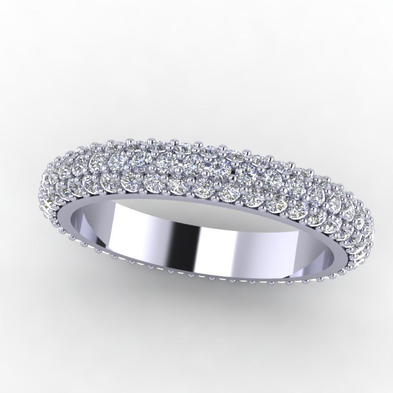 platinum 1 10ct eternity wedding band custom design