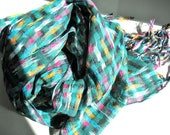 Handwoven summer scarf/shawl - lightweight