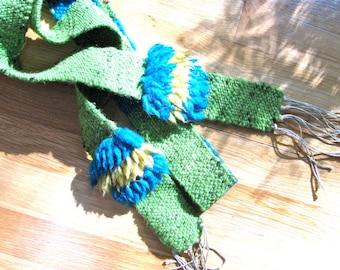 Handwoven wool sash 02