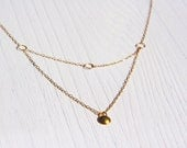 24k gold vermeil domed pendant multi stand necklace. Last minute gift for her