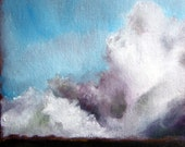 Thunderstorm big sky landscape original oil painting - Stormscape series one