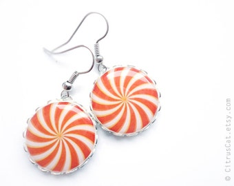 SALE - Orange candy earrings