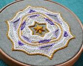 Star mandala embroidery pattern