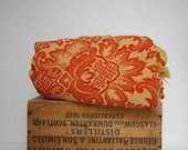 Autumn Harvest Bedspread Orange Jacquard Bates Made in the USA - campwilder