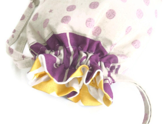 Drawstring Bag - Fabric Basket - Craft Bag