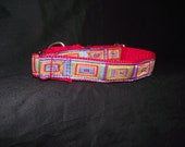 Colorful Rectangle style adjustable collar or martingale