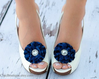 Navy Blue Shoe Clips - Wedding, Bridesmaid, Date Night, Party, Everyday wear
