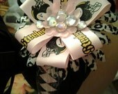 Steelers Headband ..Bows and Bling..