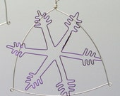 Snowflake wire hanging / tree ornament Christmas decoration / gift