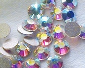 Crystal AB 2028 Swarovski Elements Rhinestones, 12ss Flat back 144 pieces