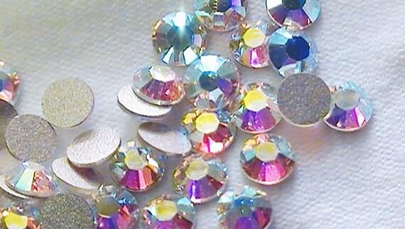 Crystal AB 2028 Swarovski Elements Rhinestones, 12ss Flat back 144 pieces