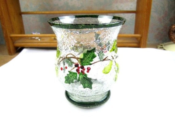 Items similar to christmas holiday sale tea light holder 1990s vintage home decor on etsy Home decor 1990s