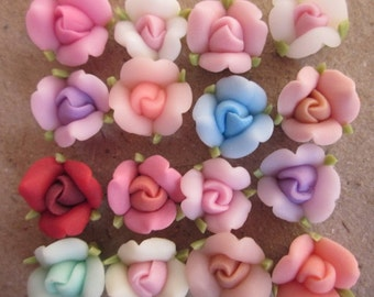 20 pcs10 mm Mixed Color Polymer Clay Flower Beads FIMO Pendant Charm craft jewelry Necklaces Earrings Bracelet Accessories by sunshinepark99