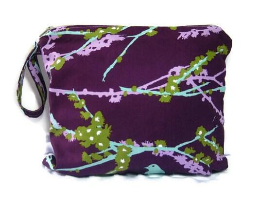 Wet bag waterproof cloth diaper plum purple zipper medium swim bathing suit pool beach girl fall autumn