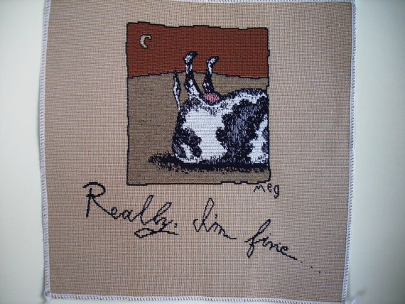 COW TIPPING Fabric Panel