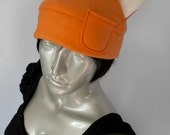 Orange Fox Fleece Hat
