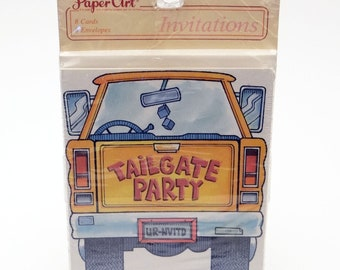 Vintage Tailgate Party Invitations