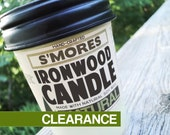 S'Mores Ironwood Soy Candle in Jelly Jar Smores Scent Marshmallow Chocolate and Graham Crackers Gifts for Men Housewarming Gift Soy Candle
