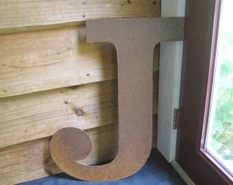 """Big Metal letter """"J"""""""