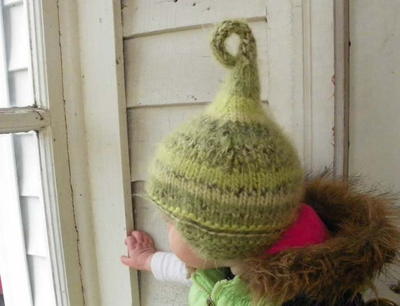 Baby boy Christmas hat Woodland Mossy Green Pixie baby hats infant hat Newborn to 6 months baby photo props kid costume