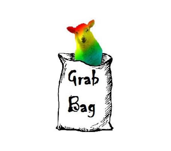 1/2 lb Funky ART Fiber Grab Bag: Drum Carder's Delight- Mixed Colors & Fibers- Wool, Silk, Alpaca, Firestar, Nylon for Art Yarn or Blending
