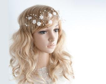 20_Bridal hair accessories, Tiara, Hair wreath, Vine tiara, Crowns and tiaras, Tiara vine, Pearl tiara, Bridal tiara Bride tiara Crown tiara