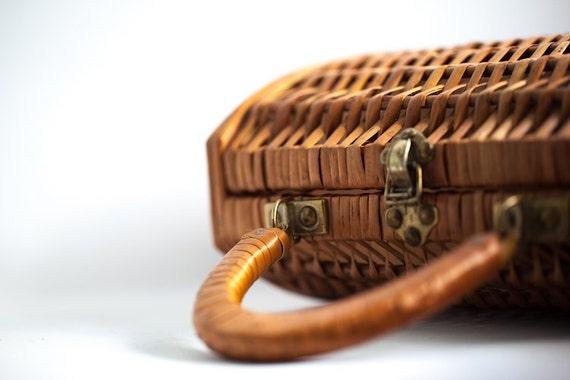 Wicker Wine Basket Carrying Case Spain