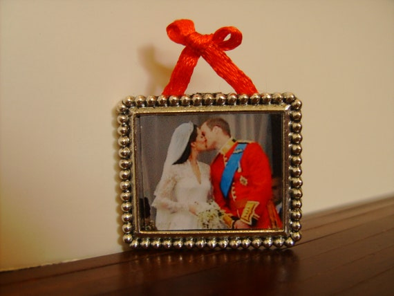 """Dollhouse Miniature Artwork, """"Wills and Kate"""", Scale One Inch"""