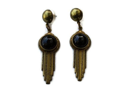 Vintage Designer Jan Michaels Art Deco Earrings
