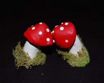 Mushroom and moss fairy HORNS festival wear