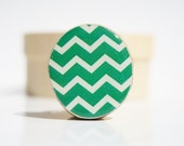 Chevron Cocktail Ring ultramarine green adjustable ring fall fashion Starlight Woods Chevron jewelry eco friendly wood ring