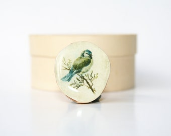 Cocktail Ring vintage birds statement ring wood ring wood  jewelry eco friendly by starlight woods