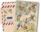 VINTAGE AIRMAIL PRINTABLE Christmas Card and Envelope Vintage French Paris Eiffel Tower Magentabelle download 123