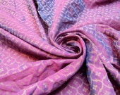Dual Shade Fuchsia and Purple Chanderi Cotton Silk Fabric Fat Quarter India