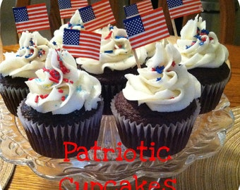 Patriotic Cupcakes-Made to Order
