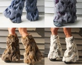 CUSTOMIZABLE Furry leg Warmers Fluffies~ 36 Faux Fur Choices!
